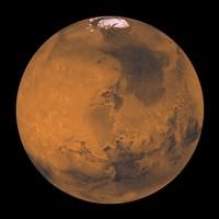 Global Color View of Mars Fine Art Print