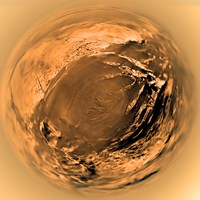 Fish-Eye View of Titan's Surface - various sizes, FulcrumGallery.com brand