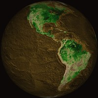 Topographic Map of Earth Fine Art Print