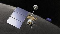 Artist's concept of the Lunar Reconnaissance Orbiter - various sizes