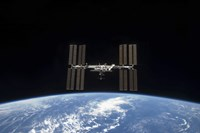 The International Space Station Backdropped by Earth's horizon - various sizes