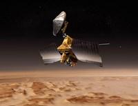 Mars Reconnaissance Orbiter Passes above Planet Mars Fine Art Print