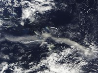 Ash Plume from Soufriere Hills, Montserrat - various sizes, FulcrumGallery.com brand
