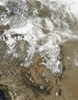 The high peaks of the Rocky Mountains covered with snow - various sizes - $47.49