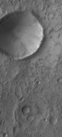 An Impact Crater on Mars Fine Art Print