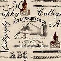 Calligraphy Pattern Fine Art Print