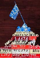 Iwojima License Plate Fine Art Print