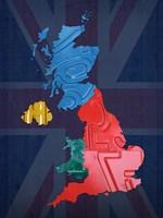 UK Map Fine Art Print