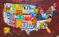 USA Map I Fine Art Print