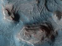 Mesas in the Nilosyrtis Mensae Region of Mars Fine Art Print