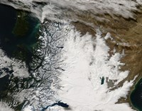 Ash Plume from Chaiten Volcano and Snow in Southern Chile and Argentina - various sizes