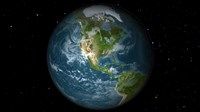 Full Earth View Showing North America - various sizes - $35.99