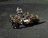 Spacesuit Engineer Drives NASA's New Lunar Truck Prototype Fine Art Print