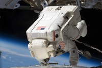 Astronaut Engaging in Extravehicular Activity
