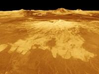 3D Perspective View of Sapas Mons on Venus Fine Art Print