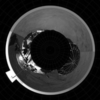 Polar Projection of Mars Fine Art Print