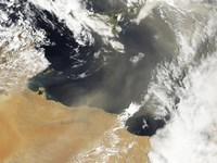 Dust plumes Blowing off the North African Coast - various sizes - $40.99