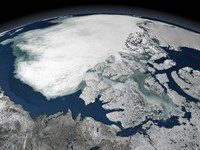 Arctic Sea Ice Above North America - various sizes