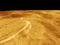 3D Perspective View of Latona Vorona and Dali Chasma on Venus Fine Art Print