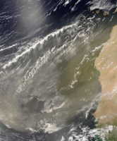 Dust storm off West Africa - various sizes