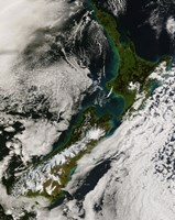 Satellite view of New Zealand - various sizes