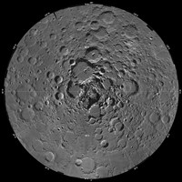 Lunar Mosaic of the North Polar Region of the Moon - various sizes
