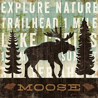 Simple Living Moose by Michael Mullan - various sizes