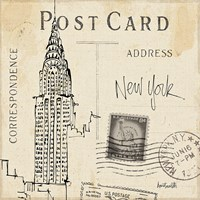 Postcard Sketches I Fine Art Print