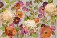Hydrangeas and Anemones Fine Art Print