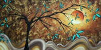 Apricot Moon Fine Art Print