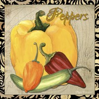 Vegetables 1 Peppers Framed Print