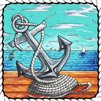 Anchors Away Rope by Megan Duncanson - various sizes, FulcrumGallery.com brand