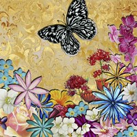 Whimsical Floral Collage 4-2 Fine Art Print