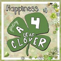 Happiness Is Finding A Four Leaf Clover by Megan Duncanson - various sizes