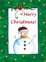 Merry Christmas Snowman by Megan Duncanson - various sizes