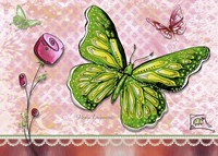 Green Yellow Butterfly 1 by Megan Duncanson - various sizes