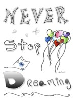 Never Stop Dreaming by Megan Duncanson - various sizes, FulcrumGallery.com brand