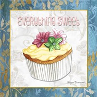 Everything Sweet Vanilla Cupcake by Megan Duncanson - various sizes, FulcrumGallery.com brand