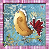 Tan And Red Bird by Megan Duncanson - various sizes