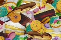 Baked Goodies Collage 2 Fine Art Print