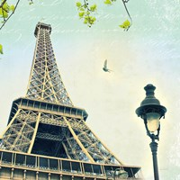 Paris Eiffel Letter by Sue Schlabach - various sizes