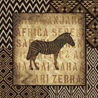 African Wild Zebra Border by Wild Apple Portfolio - various sizes