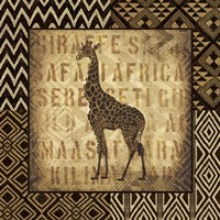 African Wild Giraffe Border by Wild Apple Portfolio - various sizes