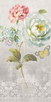 Textile Floral Panel I by Danhui Nai - various sizes