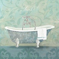 Damask Bath Tub Fine Art Print