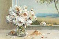 Coastal Roses v.2 Framed Print