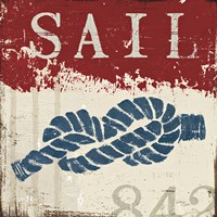 Nautical III Red Fine Art Print