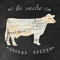 La Vache Cameo Sq Fine Art Print
