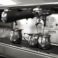 Coffeehouse II Crop Framed Print