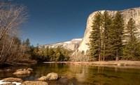 El Capitan towers over Merced River, Yosemite, California Fine Art Print